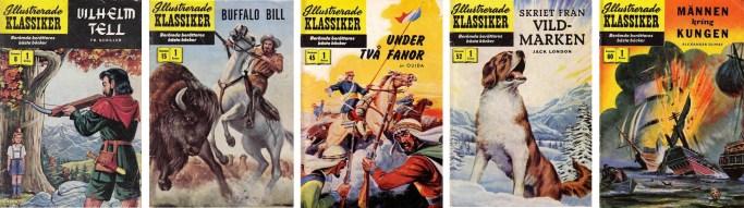 Omslag till Illustrerade klassiker med serier av Maurice Del Bourgo. Själva omslagen är dock skapade av andre tecknare.