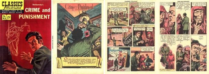 Omslag till Classics Illustrated #89, och inledande sidor av Rudy Palais. ©Gilberton