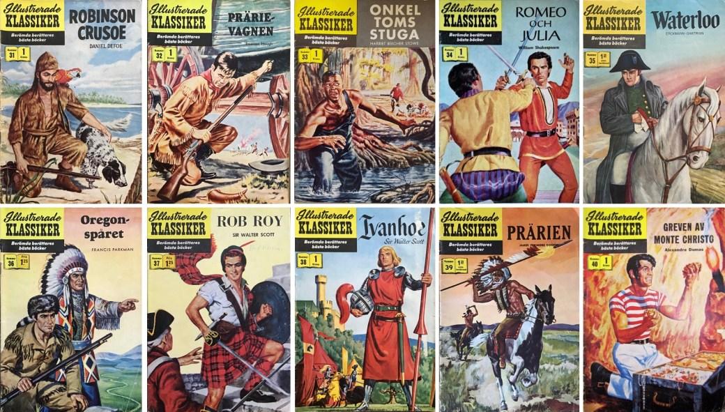 Omslag till Illustrerade klassiker nr 31-40 (1957). ©IK/Gilberton