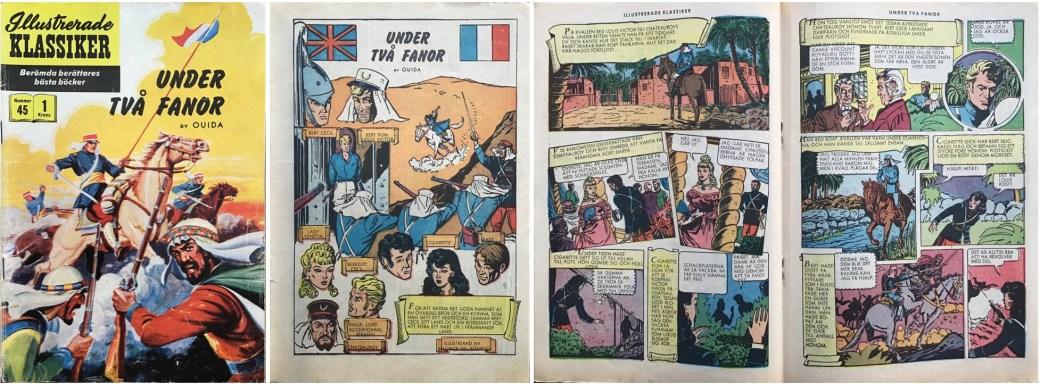 Illustrerade klassiker 41-50: Omslag, förstasida och mittuppslag ur IK nr 45. ©IK/Gilberton