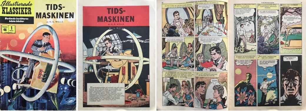 Illustrerade klassiker 41-50: Omslag, förstasida och ett uppslag ur IK nr 46. ©IK/Gilberton