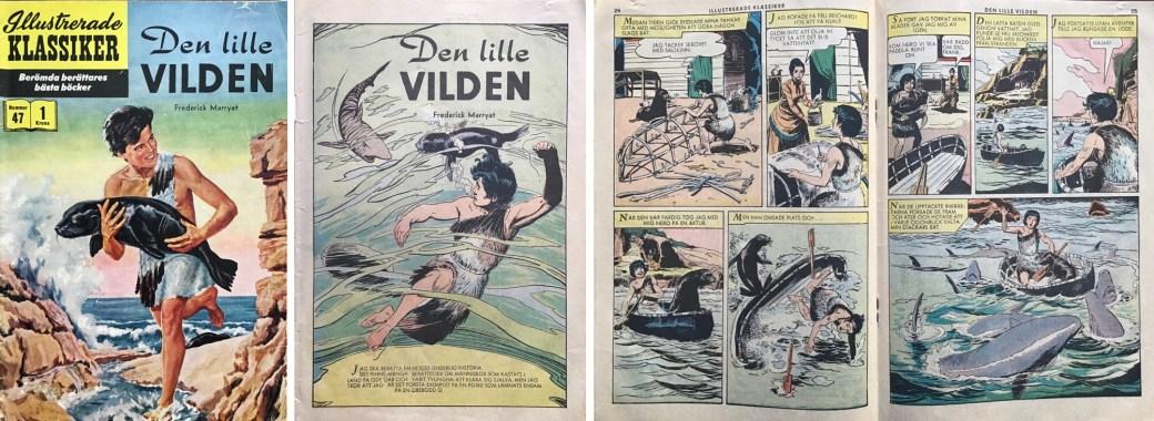 Illustrerade klassiker 41-50: Omslag, förstasida och mittuppslag ur IK nr 47. ©IK/Gilberton