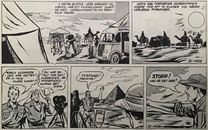Två inledande strippar av Sahara.