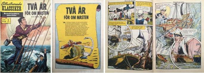 Omslag, förstasida och ett uppslag ur Illustrerade klassiker nr 115. ©IK/Gilberton