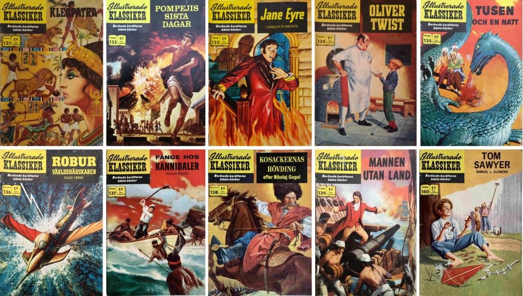 Omslag till Illustrerade klassiker nr 131-140 (1961). ©IK/Gilberton