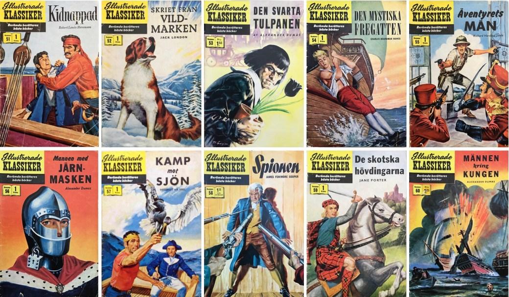 Omslag till Illustrerade klassiker nr 51-60 (1958). ©IK/Gilberton