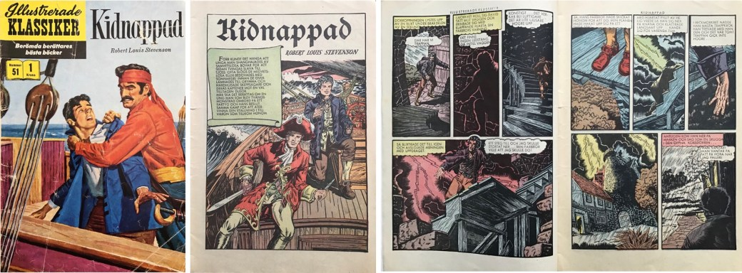 Illustrerade klassiker 51-60: Omslag, förstasida och ett uppslag ur IK nr 51. ©IK/Gilberton