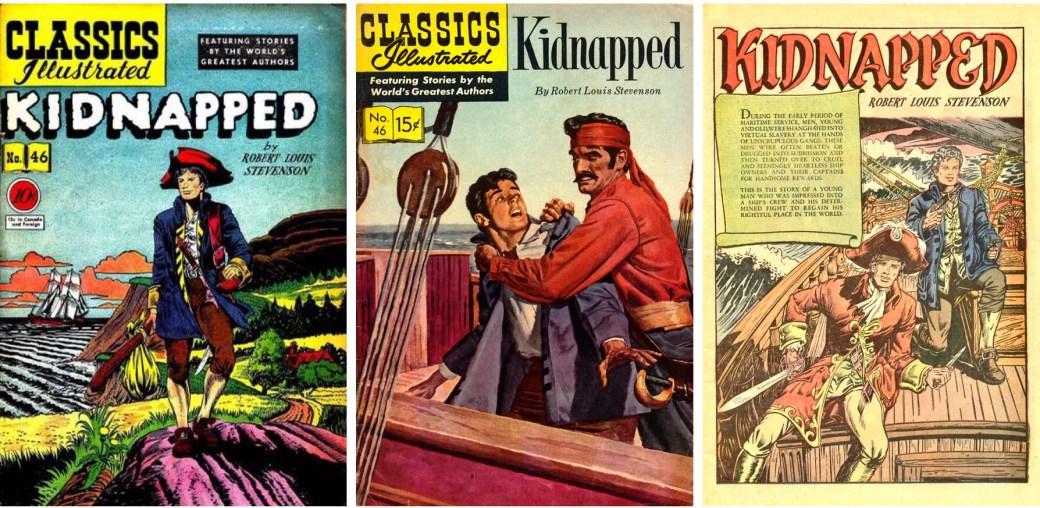 Omslag från 1948 resp. 1956, och förstasida ur CI #46. ©Gilberton