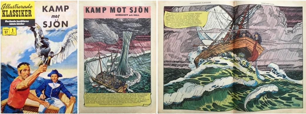 Illustrerade klassiker 51-60: Omslag, förstasida och mittuppslag ur IK nr 57. ©IK/Gilberton