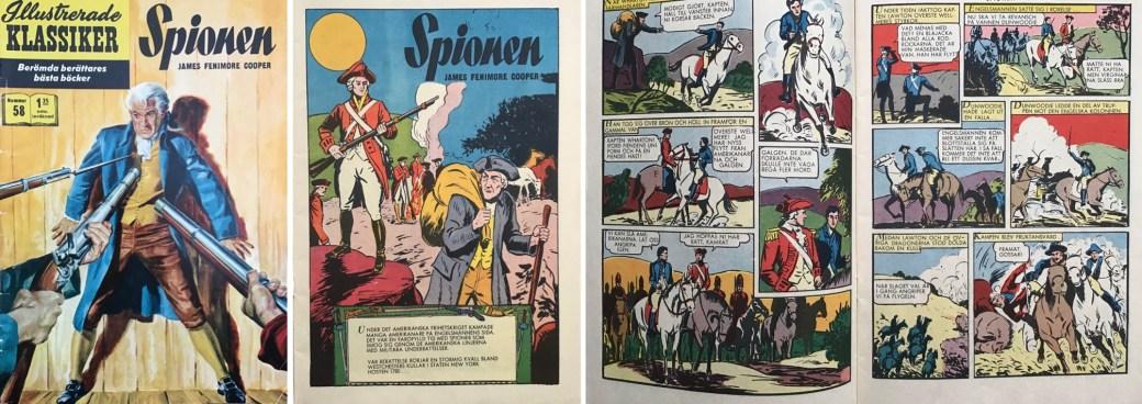 Illustrerade klassiker 51-60: Omslag, förstasida och ett uppslag ur Illustrerade klassiker nr 58. ©IK/Gilberton
