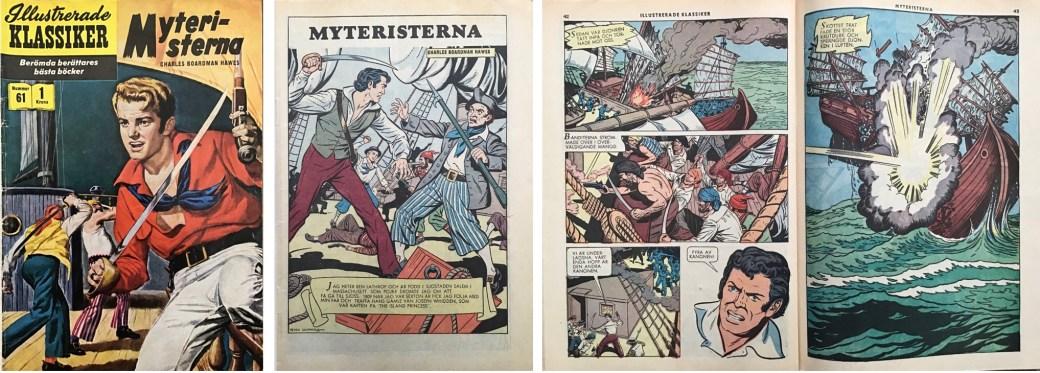 Illustrerade klassiker 51-60: Omslag, förstasida och ett uppslag ur IK nr 61. ©IK/Gilberton