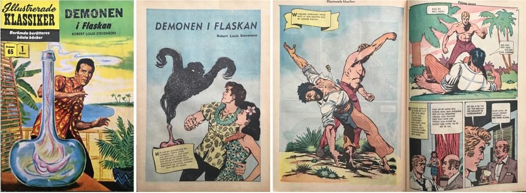 Illustrerade klassiker 61-70: Omslag, förstasida och ett uppslag ur IK nr 65. ©IK/Gilberton