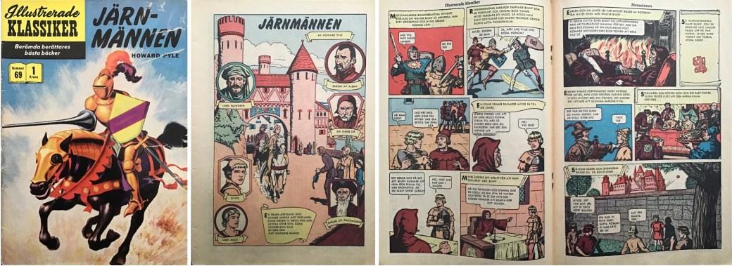 Illustrerade klassiker 61-70: Omslag, förstasida och mittuppslag ur IK nr #69. ©IK/Gilberton