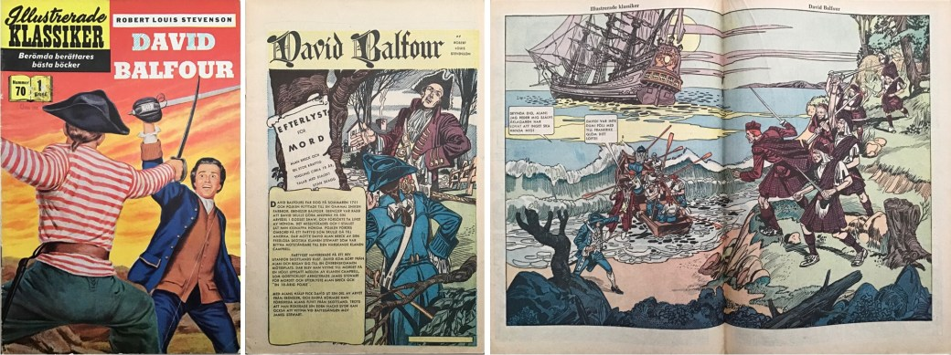 Illustrerade klassiker 61-70: Omslag, förstasida och mittuppslag ur IK nr 70. ©IK/Gilberton