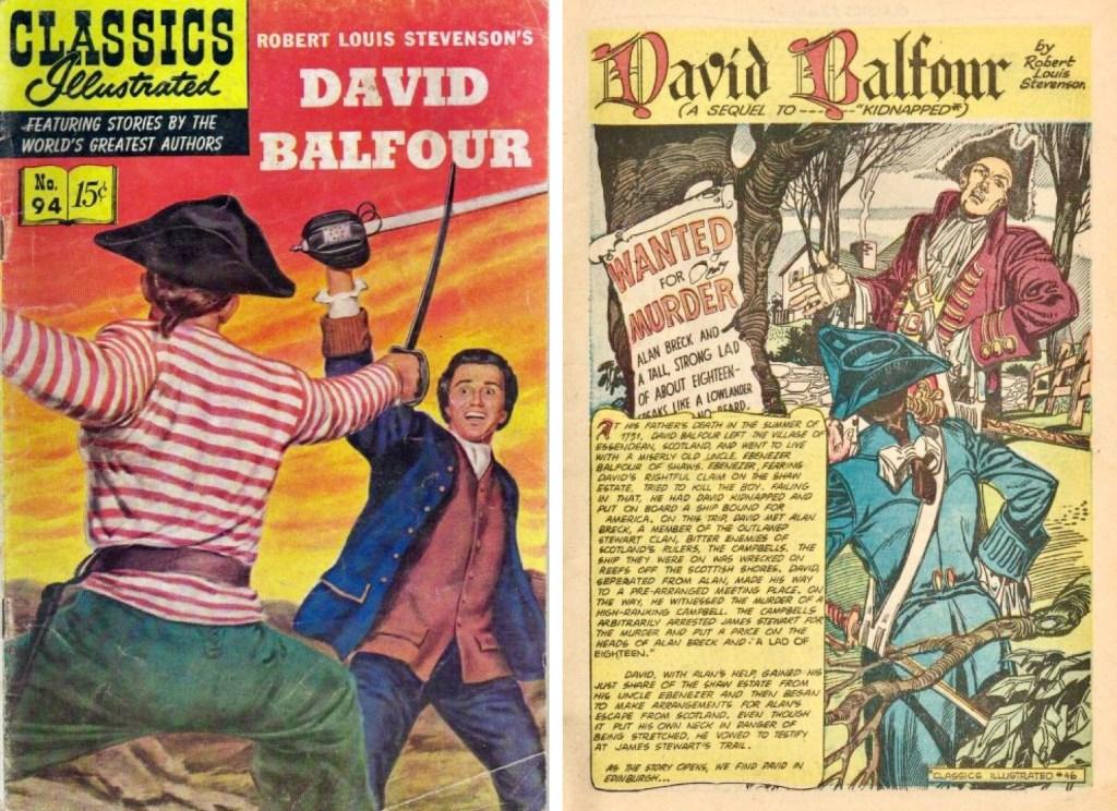 Omslag och förstasida ur Classics Illustrated #94. ©Gilberton
