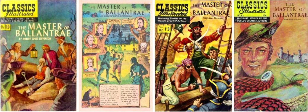 Omslag och förstasida ur CI #82, omslag till brittiska CI #82 och till am. CI #82 från 1964. ©Gilberton/T&P