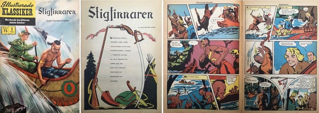 Illustrerade klassiker 71-80: Omslag, förstasida och ett uppslag ur IK nr 76. ©IK/Gilberton