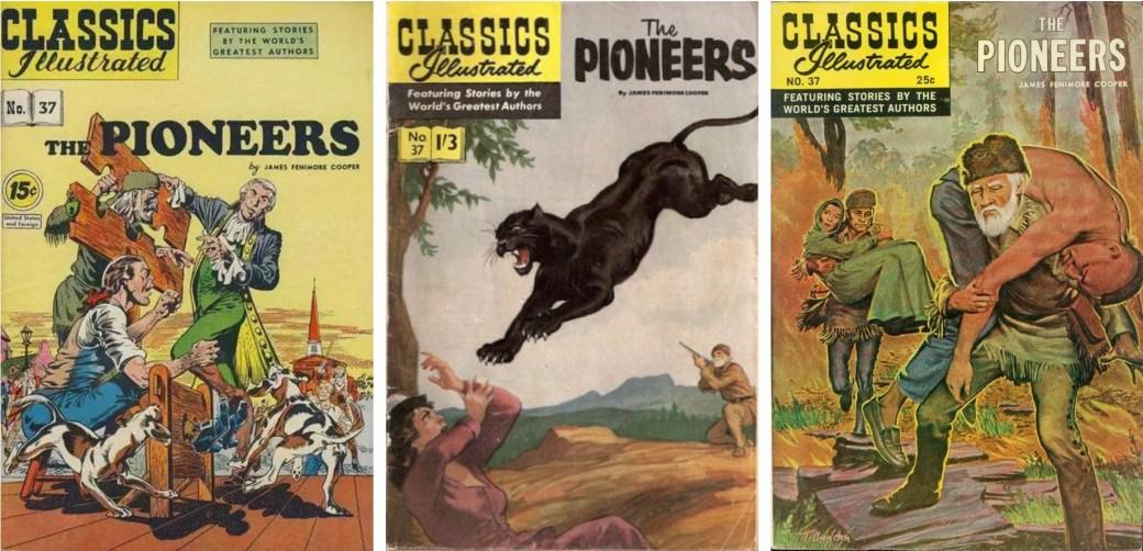 Omslag från 1947 (CI #37), 50-talet (brittiska CI #47) och 1968. ©Gilberton/T&P