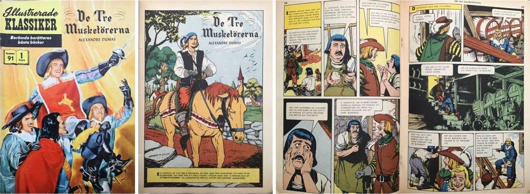 Omslag, förstasida och mittuppslag ur Illusterade klassiker nr 91. ©IK/Gilberton