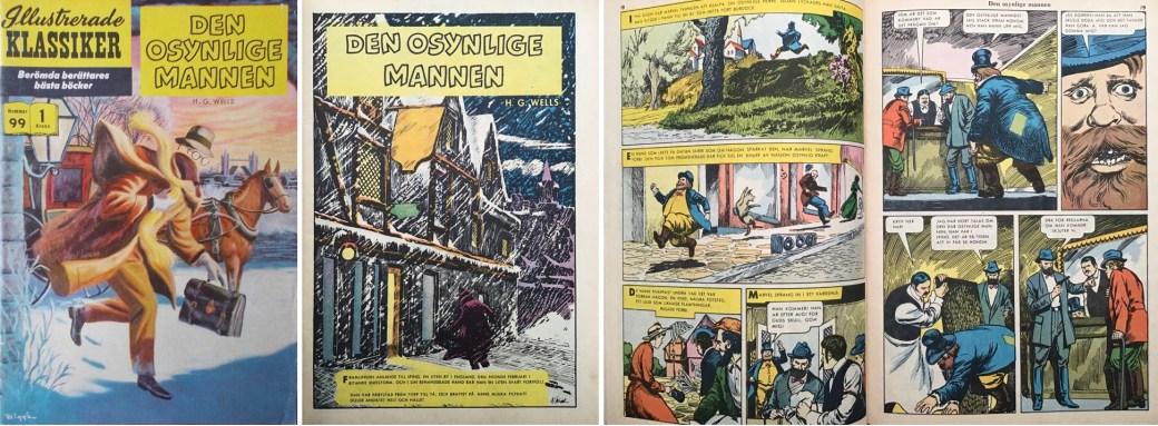 Illustrerade klassiker 91-100: Omslag, förstasida och ett uppslag ur IK nr 99. ©IK/Gilberton