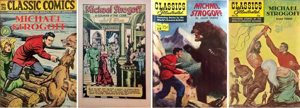 Omslag 1946 (med förstasida), 1954 och 1969 till CI #28. ©Gilberton