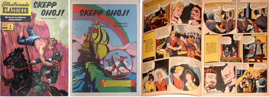Omslag, förstasida och mittuppslag ur IK nr 109. ©IK/Gilberton
