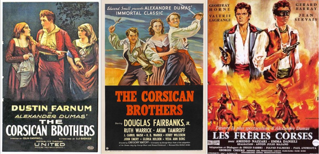 Filmaffischer från 1920, 1941 och 1961 om spelfilmer baserade på boken.