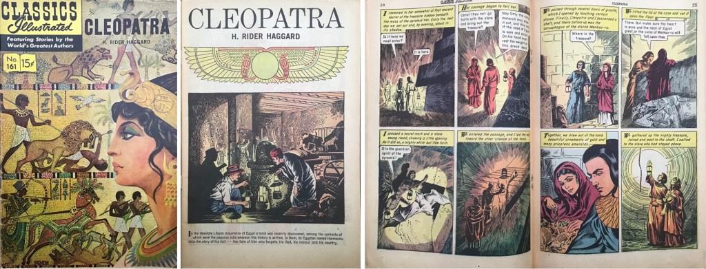 Omslag, förstasida och mittuppslag ur Classics Illustrated #161. ©Gilberton