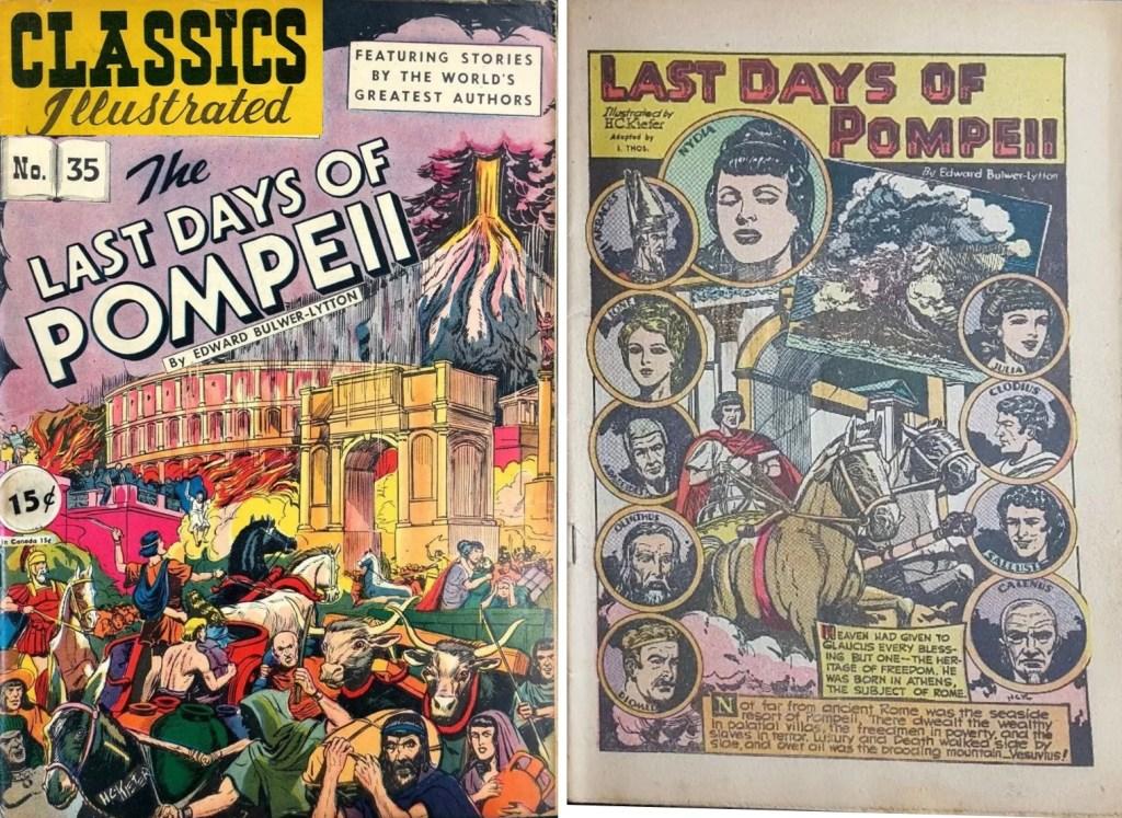 Omslag och förstasida ur Classics Illustrated #35 (1947). ©Gilberton