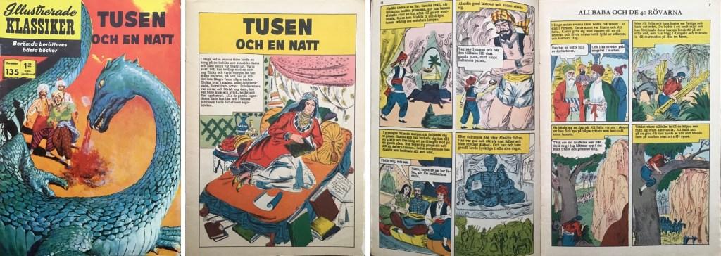 Omslag, förstasida och ett uppslag ur IK nr 135. ©IK/Gilberton