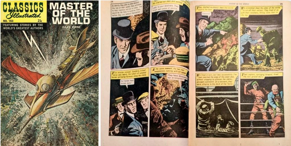 Omslag och mittuppslag från Classics Illustrated #163. ©Gilberton