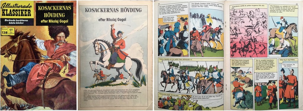 Omslag till Illustrerade klassiker nr 138, förstasida och mittuppslag ur Classics Illustrated #45. ©IK/Gilberton