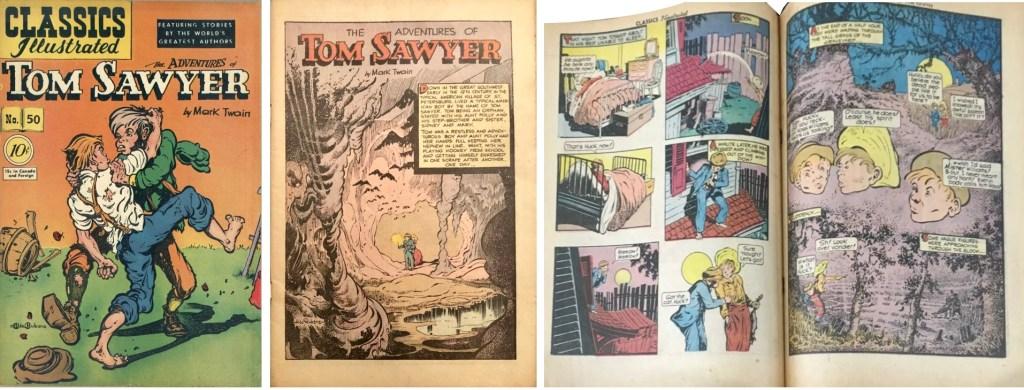 Omslag, förstasida och ett uppslag ur CI #50 (1948). ©Gilberton