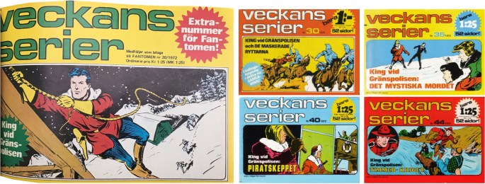 Vecknas serier var en liten (18x13 cm) serietidning som utkom med 47 nummer 1972 och ett nummer 1973. Ett extranummer följde med Fantomen som bilaga.