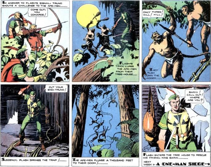 Söndagssidan ur Beast Men of Mongo, från 11 juli 1937.