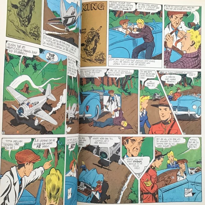 Söndagsserien med King ingick som en av serierna i Comics 3.