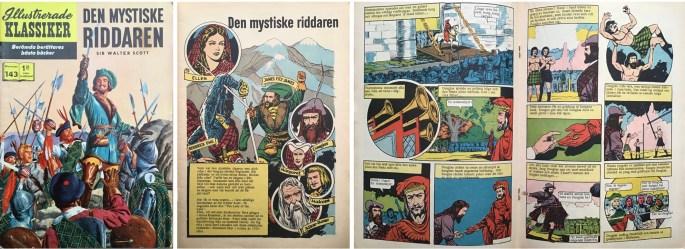 Omslag, förstasida och mittuppslag ur Illustrerade klassiker nr 143. ©IK/Gilberton