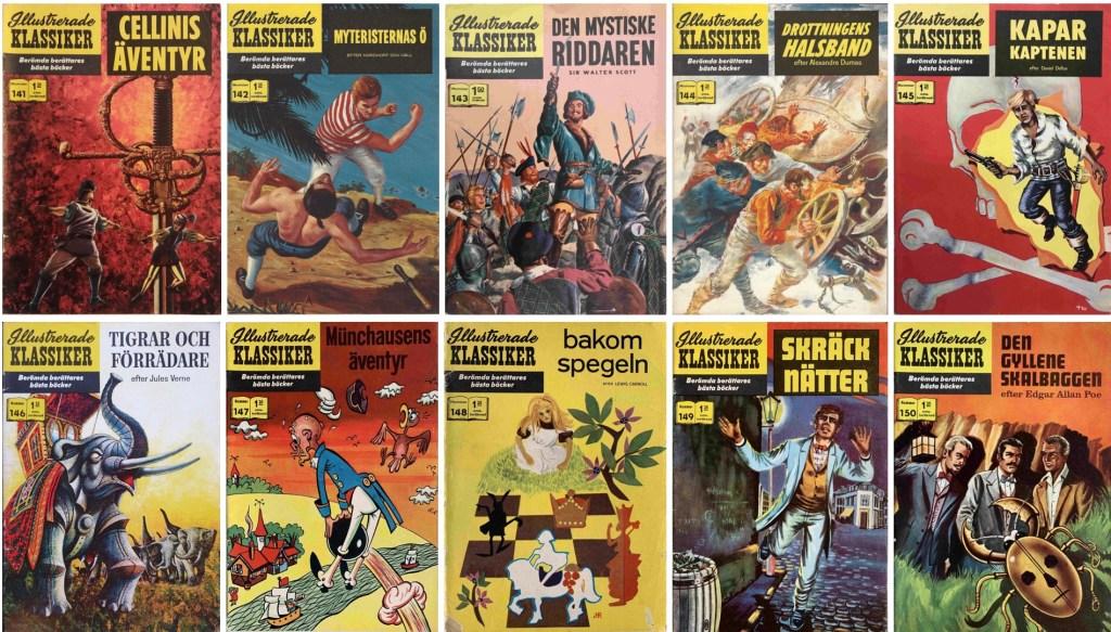 Omslag till Illustrerade klassiker nr 141-150 (1961-62). ©IK/Gilberton