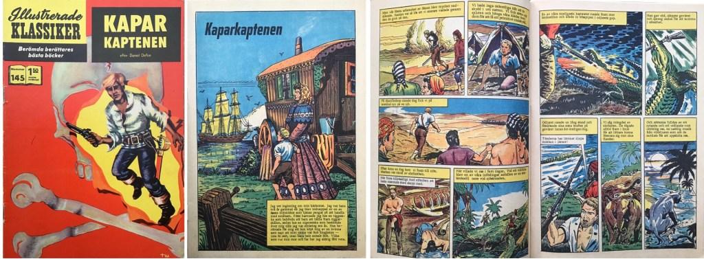 Illustrerade klassiker 141-150: Omslag, förstasida och ett uppslag ur IK nr 145. ©IK/T&P