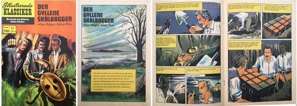 Illustrerade klassiker 141-150: Omslag, förstasida och mittuppslag ur Illustrerade klassiker nr 150. ©IK/T&P