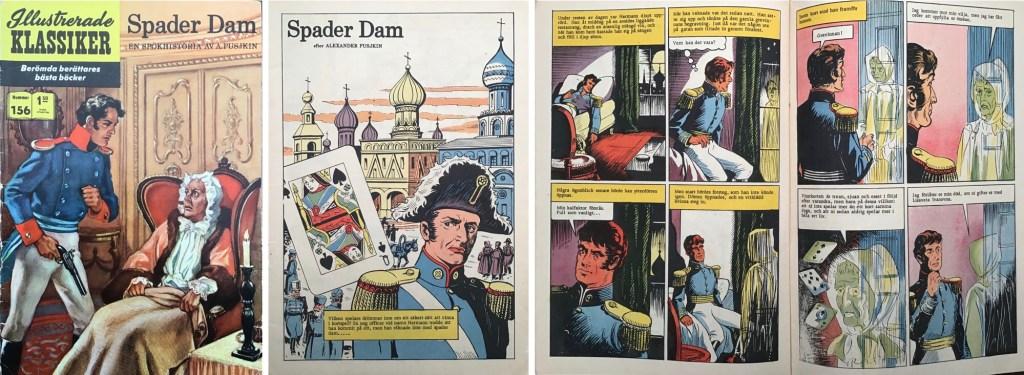 Omslag, förstasida och ett uppslag ur Illustrerade klassiker nr 156. ©IK/T&P