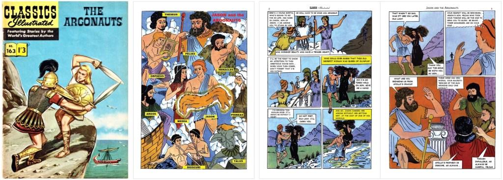 Omslag, förstasida och ett första uppslag ur br. Classics Illustrated #163. ©T&P