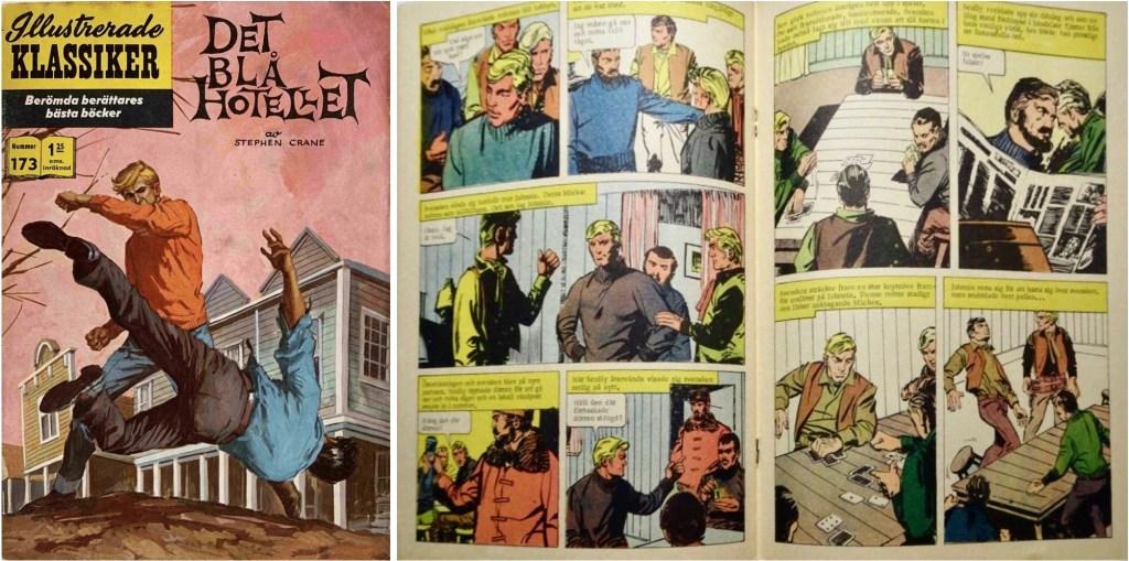 Omslag, förstasida och mittuppslag ur Illustrerade klassiker nr 173. ©IK/JES