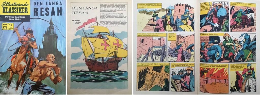 Omslaget, förstasida och ett uppslag ur Illustrerade klassiker nr 175. ©IK
