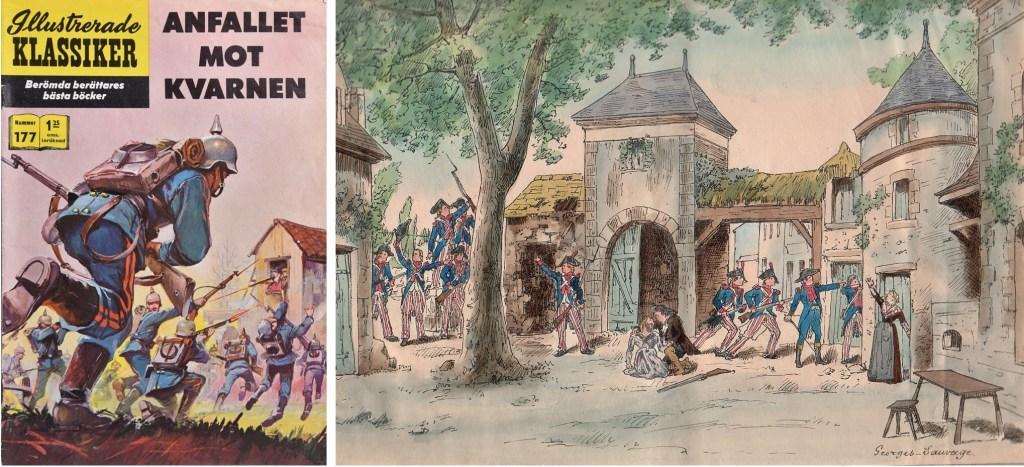 Omslag till Illustrerade klassiker nr 177, och en illustration över akt IV av teaterstycket. ©IK