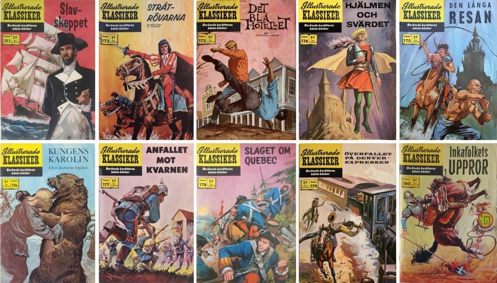 Omslag till Illustrerade klassiker nr 171-180 (1964-65). ©IK/Williams/JES