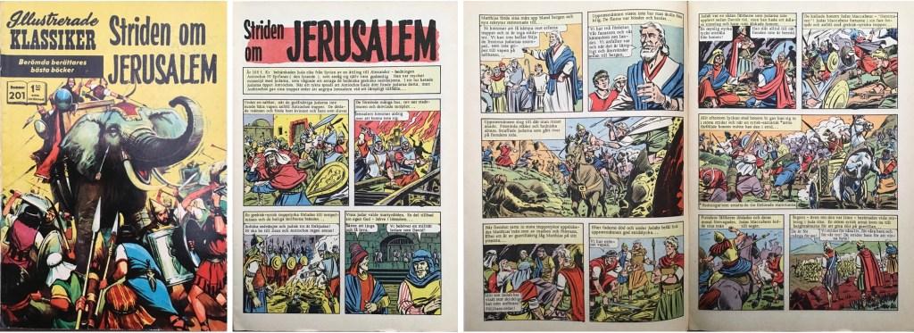 Omslag, förstasida och ett uppslag ur Illustrerade klassiker nr 201. ©Williams