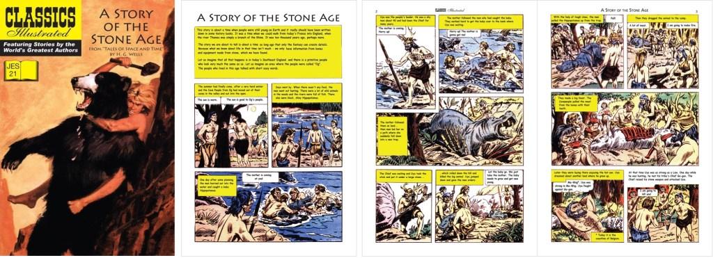 Omslag, förstasida och inledande uppslag ur Classics Illustrated (JES) No. 21. ©JES