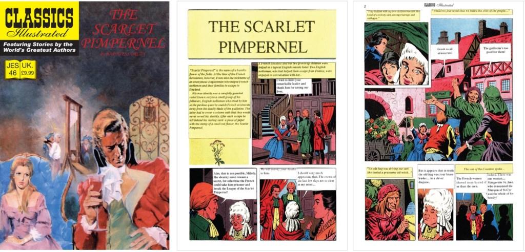 Omslag och inledande sidor ur Classics Illustrated (JES) No. 46. ©JES