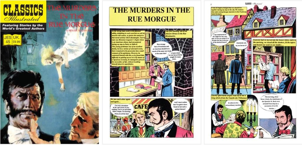 Omslag och inledande sidor ur Classics Illustrated (JES) No. 45. ©JES